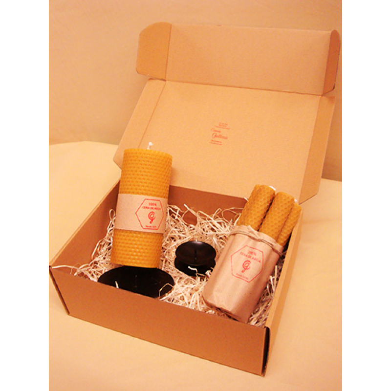 PACK BOUGIES CIRE D'ABEILLE