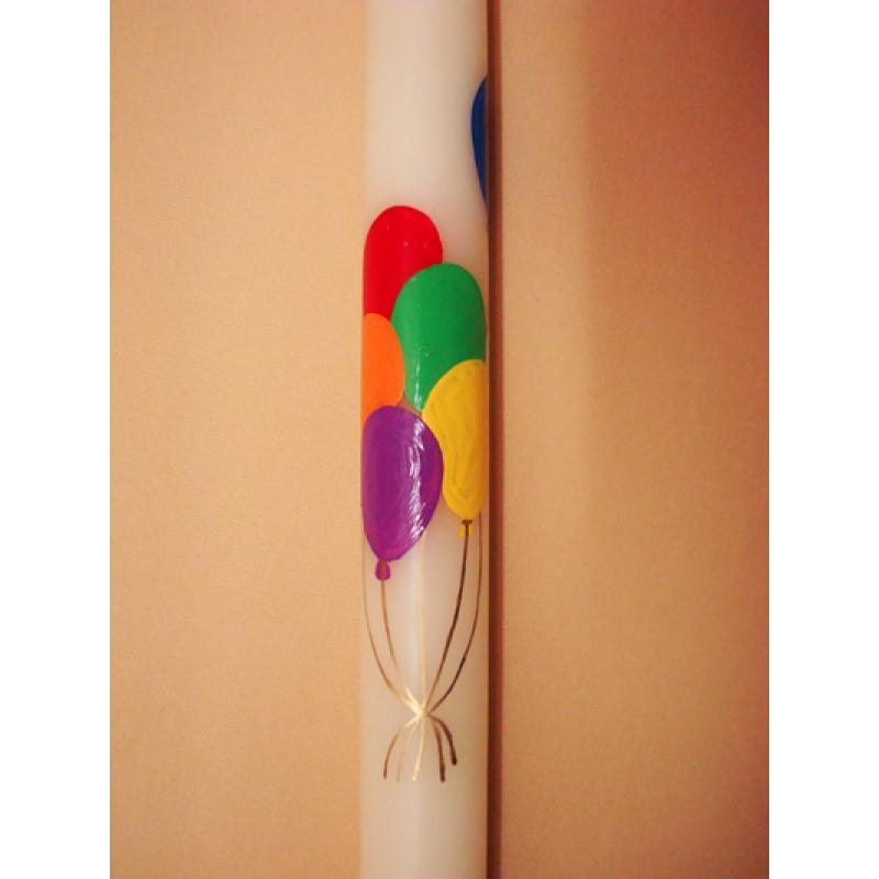 CIRIO PINTADO Globos colores (3x50cm)