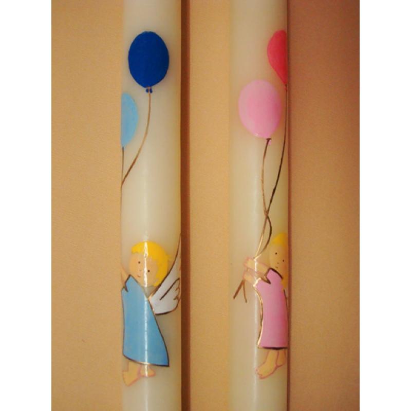 CIRIO PINTADO Angel con globos (3x50cm)