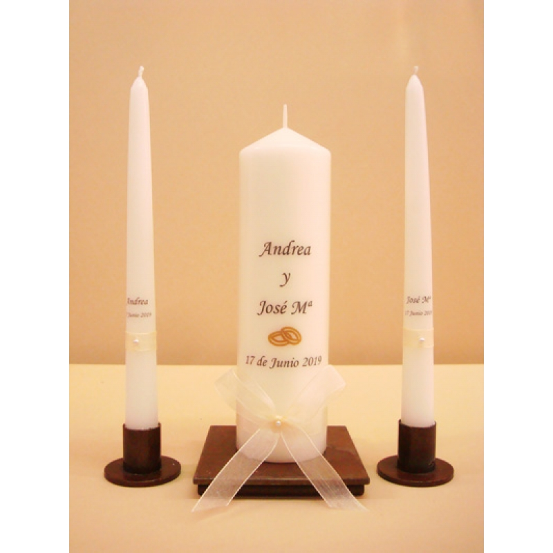 SET VELAS CEREMONIA SIMPLE 6x20cm