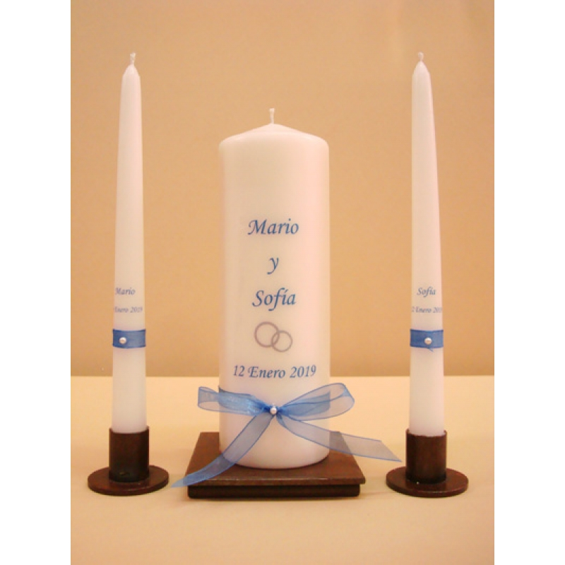 SET VELAS CEREMONIA SIMPLE 7x20cm