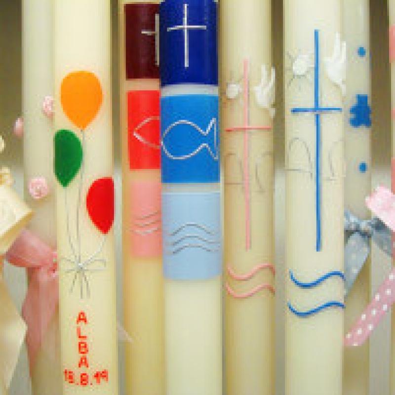 Cirios decorados